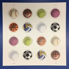 Have A Ball Sheet Of 16 STAMPS FOREVER MNH 🏀 ⚾️ 🏈
