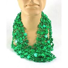 Weed Leaf Pot 420 Costume Mardi Gras Mini Beads Pack Of 12 Marijuana Party Favor