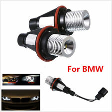 White Angel Eye Halo Light 10W CREE LED Ring Marker Bulbs For BMW X5 E39 E63