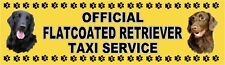 FLATCOATED RETRIEVER OFFICIAL TAXI SERVICE Dog Car Sticker  By Starprint