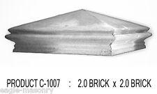 Concrete Pier Cap: 2.0 brick x 2.0 brick  ( PRODUCT: C-1007)