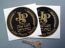 "JOHN PLAYER SPECIAL Classic Race Car STICKERS 4"" Pair JPS Lotus Racing F1 Rally"