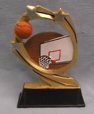 Basketball net and ball full color resin award star Rcm102