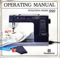 VIKING/HUSQVARNA 990 Operating Manual + BONUS!!!!!!!!!! ALL on CD in PDF format