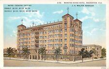 1920's Manatee River Hotel Bradenton Fl post card