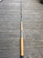 """Vintage Gliebe Fishing Rod Model 886, 80"""" One Piece Roller Guides Heavy Action"""