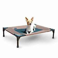 """K&H Manufacturing 17 by 22"""" Original Pet Cot Small Chocolate/Mesh"""