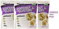 3x InnoFoods COCONUT CLUSTERS 18oz organic Non-GMO Super pumpkin sunflower chia