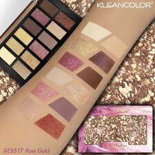 KLEANCOLOR ROSE GOLD Colors Eyeshadow Palette Matte Shimmer 3D Glitter Makeup