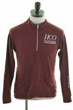 HOLLISTER Mens Sweatshirt Jumper XS Burgundy Cotton  KW41