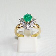 Ring Gold 750 Smaragd Brillant Smaragdring Brillantring Diamant 18 kt.