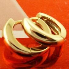 EARRINGS HUGGIE HOOP GENUINE 18K YELLOW G/F GOLD SOLID LADIES CLASSIC DESIGN