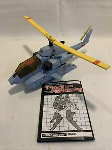 1985 Hasbro Transformers g1 Whirl With Instructions Missing Some Parts