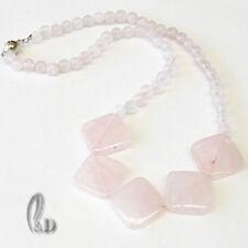 Rose Quartz Silver Plated Fine Necklaces & Pendants
