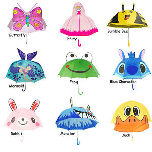 3D Ear Cartoon Animal Kids Children's Hook Handle Umbrella girls boys gift 1pc