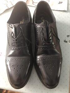 Samuel Windsor Handmade Oxford Brogue Formal Shoes Men's Size 10 1/2