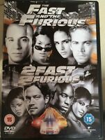Paul Walker Vin Diesel THE FAST AND THE FURIOUS / 2 FAST 2 FURIOUS | UK DVD