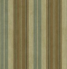 Wallquest Brown/Light Blue Stripe Wallpaper - MR80507