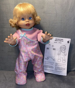 LITTLE MOMMY WALK & GIGGLE DOLL FISHER PRICE 2008~Instructions