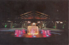 Old postcard, Lighted Fountain Cape Coral Yacht and Racket Club, Cape Coral, FL