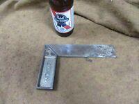 """Vtg Stanley No.1,8""""Steel Try Square,Sweetheart Logo,Nickeled~AVG+😎😎😎#S2.15.21"""
