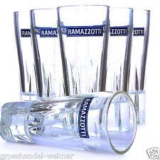 Ramazzotti Gläser Glas Ramazotti Italien Mailand Ramazoti Ramazzoti 4 cl 6 Stück