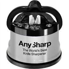 Anysharp Knife Sharpener Silver - Worlds Best Kitchen