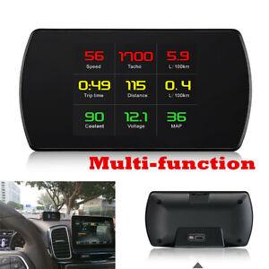 OBD2 Car HUD Computer Head Up Display Smart Digital Meter HD Digital Display