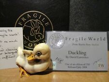 Harmony Kingdom Mps Fragile World Duckling Marble Resin Figurine