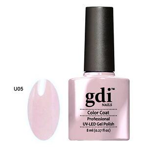 GDI NAILS - U05 CREAMY PASTEL LILAC - SUBTLE NUDE UV LED GEL NAIL POLISH VARNISH