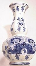 Large Dutch Delft Tinglazed Polychrome Calabash Shaped Delftblue Vase flora pot