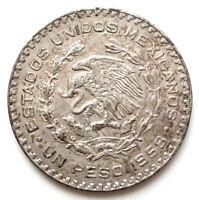 MEXIQUE SPLENDIDE 1 Peso argent José Morelos y Pavon 1958 Mexico