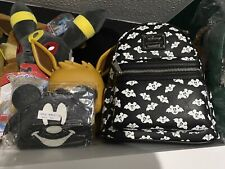 More details for loungefly disney totally batty mickey bat mini backpack and wallet set gitd lasr
