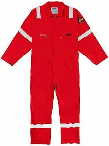 Roots Flamebuster Fire Retardant High Visibility Classic 320gm Coverall Red