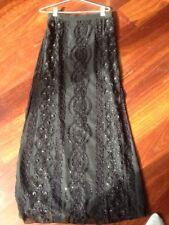 Francoise Esterhazy Australia Design black formal beaded sequin skirt Sz 10