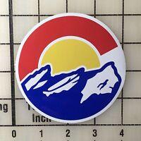 "Colorado Flag Mountains 4"" Wide Multi-Color Vinyl Decal Sticker - BOGO"