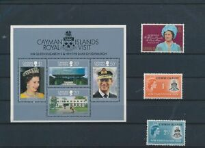 LO15612 Cayman Islands new constitution royal visit fine lot MNH
