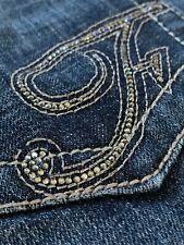 Size 4 Frankie B Jeans Denim Low Rise Rhinestones F on Pockets *READ