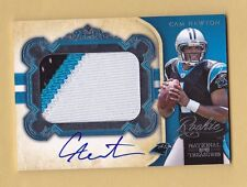 2011 national treasures CAM NEWTON auto PATCH signed PANTHERS rookie RC BGS