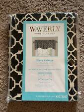 Waverly Lovely Lattice Onyx Wave Valance Window 50 x 16 NEW