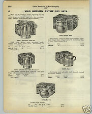 1930 PAPER AD Viko Nursery Rhyme Toy Tea Pot Sets Empire Electric Stove Range