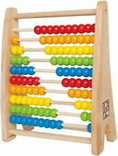Hape Rainbow Bead Abacus Pre-School Young Children Wooden Toy Game Bnip