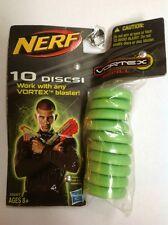 Hasbro Nerf Vortex Refill Package Green 10 Count Discs 33687 US Seller NIP
