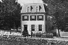 New 5x7 Civil War Photo: Gen. Ulysses Grant, others at Orphanage in Gettysburg