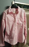 Abercrombie & Fitch Pink Plaid Button Down Shirt Size L