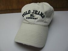 VTG POLO JEANS RL Company White Navy Adjustable One Size CAP Hat Ralph Lauren