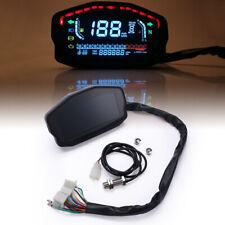 Universal Motorrad LCD Digital Hintergrundbeleuchtung Kilometerzähler Tachometer