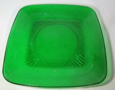 """Anchor Hocking Charm Forest Green Glass Luncheon Plate 8-1/4"""""""