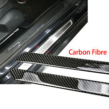 2x Universal Door Sill Carbon Fiber Car Scuff Plate Cover Panel Step Protector