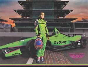 "2018 Danica Patrick Go Daddy ""Danica Double"" Indy 500 Indy Car postcard"